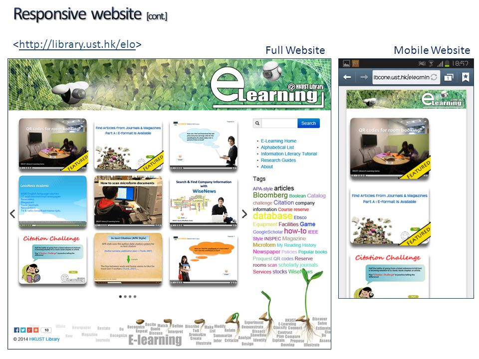 Responsive website [cont.]